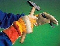 Перчатки ЮКОН кожаные комбинированные, утепленные не без; трикотажными манжетами.