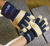 Перчатки ХВАТКА® комбинированные, утепленные кожаные.