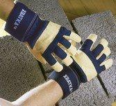 Перчатки ХВАТКА, утеплённые спилковые