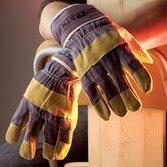 Перчатки ХВАТКА® комбинированные, тонкие спилковые.